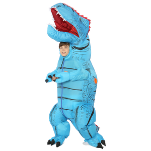 Image 5 - T REX Inflatable Dinosaur Costume for Adult Kids Men Women Halloween Costume Dino Cosplay  Cartoon Anime Party