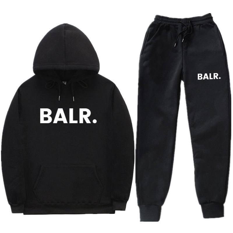 Hot Selling Trendy Letters BALR Set Men And Women Leisure Sports Suit Hoodie Popular Brand Hoodie