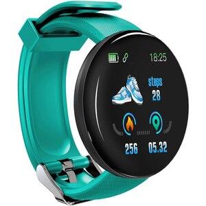 Image 3 - D18 ciśnienia krwi tętno Smartwatch kolorowy ekran inteligentny zegarek fitness smart watch IP65 wodoodporna bransoletka