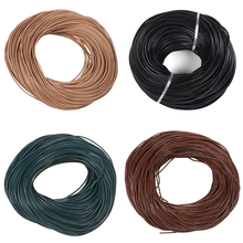 pandahall Cowhide Leather Cord 1mm 1.5mm 2mm 3mm Black Brown Peru Leather Jewelry Cord Material for Jewelry Making DIY 100m