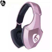Ovleng s33 sobre a orelha baixo estéreo bluetooth fone de ouvido sem fio suporte micro sd/tf cartão fm rádio microfone & led