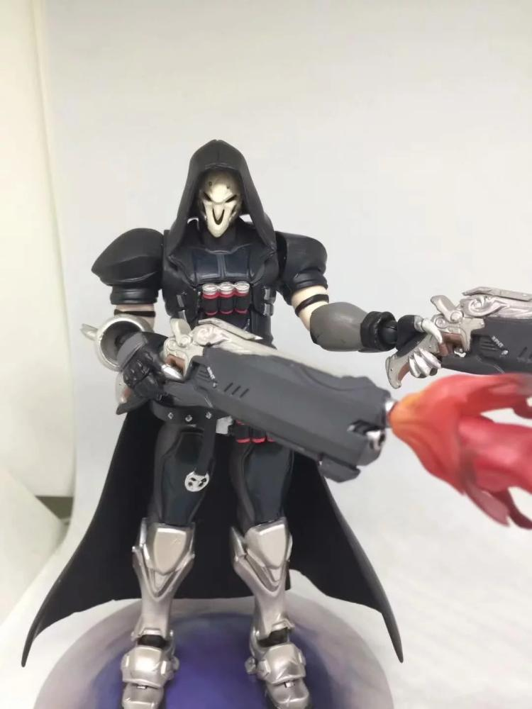 In Stock 15cm Overwatcher 393 # Grim Reaper 352 Tracer PVC Action Figure Movable collection toy gifts Doll 1