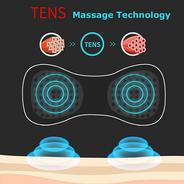 Portable Mini Electric Neck Massager Cervical Massage Stimulator Relief Pain Health Care Tool NEW Women Men TSLM1 3