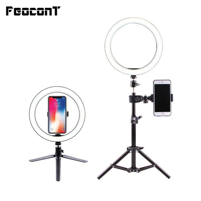 <font><b>Ring</b></font> Lamp Video <font><b>Light</b></font> <font><b>16</b></font>/26cm Dimmable LED Selfie <font><b>Ring</b></font> <font><b>Light</b></font> USB Photography <font><b>Light</b></font> With Tripod For Phone Makeup Youtube Tik tok image