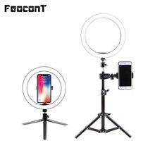 טבעת מנורת וידאו אור 16/26cm ניתן לעמעום LED Selfie טבעת אור USB צילום אור עם חצובה עבור טלפון איפור Youtube Tik tok
