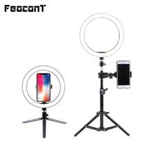 Ring Lamp Video Light 16 26cm Dimmable LED Selfie Ring Light USB Photography Light With Tripod For Phone Makeup Youtube Tik tok cheap FeoconT US Plug Bi-color 3200K-5600K