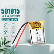 Литий-полимерный перезаряжаемый аккумулятор 3,7 в 60 мАч 501015 для MP3 MP4 MP5 DIY светодиодсветодиодный игрушки Bluetooth наушники звукозаписывающее уст...