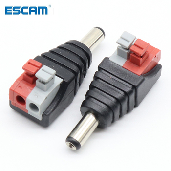5pcs DC Male +5 pcs Female connector 2.1*5.5mm Power Jack Adapter Plug Connector for 3528/5050/5730 single color led strip - discount item  35% OFF Transmission & Cables