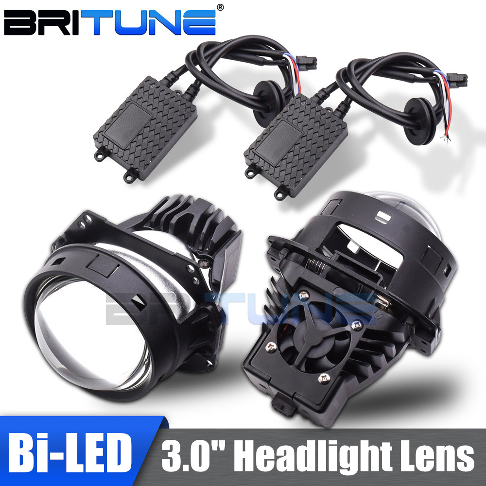 Bi-led Lens 3.0 Projector Headlight Lenses LED Bulbs Lamp For Auto Car Lights Accessories Retrofit Universal Automobiles Kit DIY