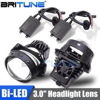 Bi led Lens 3.0 Projector Headlight Lenses LED Bulbs Lamp For Auto Car Lights Accessories Retrofit Universal Automobiles Kit DIY