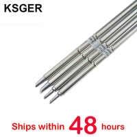 KSGER T12 puntas de pistola para soldar T12-BCM2 T12-BCM3 para STC OLED STM32 OLED T12 controlador de temperatura