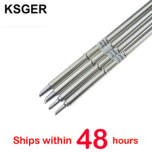 KSGER T12 Soldering Iron Tips T12 BCM2 T12 BCM3 For STC OLED STM32 OLED T12 Temperature Controller