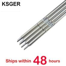 KSGER T12 pointes de fer à souder T12 BCM2 T12 BCM3 pour STC OLED STM32 OLED T12 régulateur de température