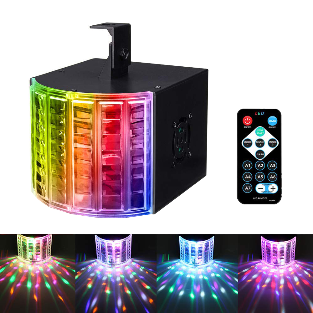 8 Colors Mini LED Stage Light Professional DJ Party Lights Effect For Wedding DJ Bar DMX Sound Control Disco Light EU/US Plug
