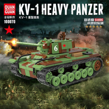 768PCS  WW2 Military Soviet Union KV-1 Tank Building Blocks Military WW2 Tank army Soldier Weapon gun Bricks Toys For children printio soviet tank