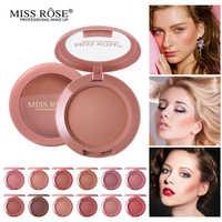 Face Powder Miss Rose Blusher Palette Matte Makeup Blush Contour Palette Waterproof Bronzer Peach Makeup
