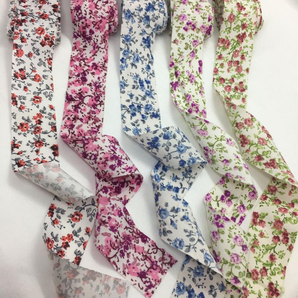 3 см 10Y цветы из ткани с набивным рисунком лента для ручная работа, сделай сам, ремесло ткани для пошива одежды косая бейка подарок цветочная упаковка