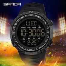 SANDA Fashion Military Men's Watches 50M orologio sportivo impermeabile per uomo LED orologi da polso elettronici Relogio Masculino 6014