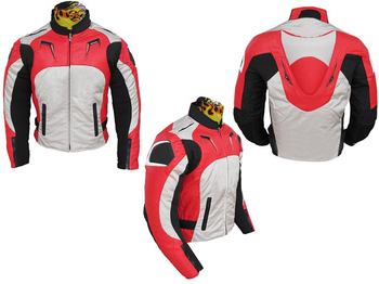 Jacket With Protection Motorcycle Mountain Bicycle Riding Motocross Racing Red White Jackets