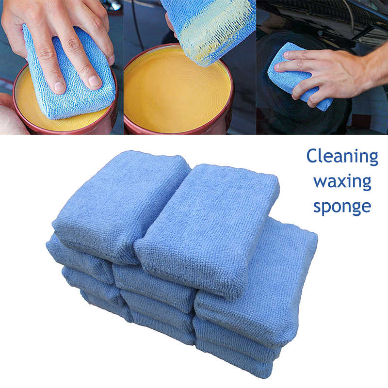 2020 Doekjes Auto Applicator Cleaning Polish Pad Foam Spons Microfiber Waxen Detaillering Schoon Huishouden Cleaning Tools