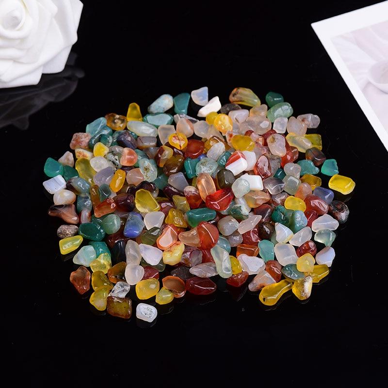50g-100g Natural Quartz White Crystal Mini Rock Mineral Specimen Home Decor Colorful For Aquarium Healing Stone Fashion Simple