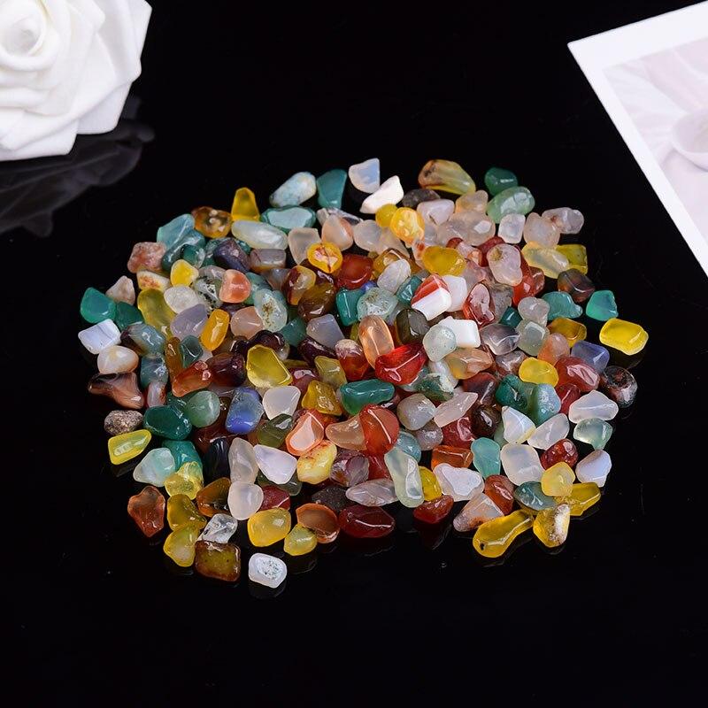 50g-100g natural quartzo cristal branco mini rocha mineral espécime decoração de casa colorido para aquarium cura pedra moda simples