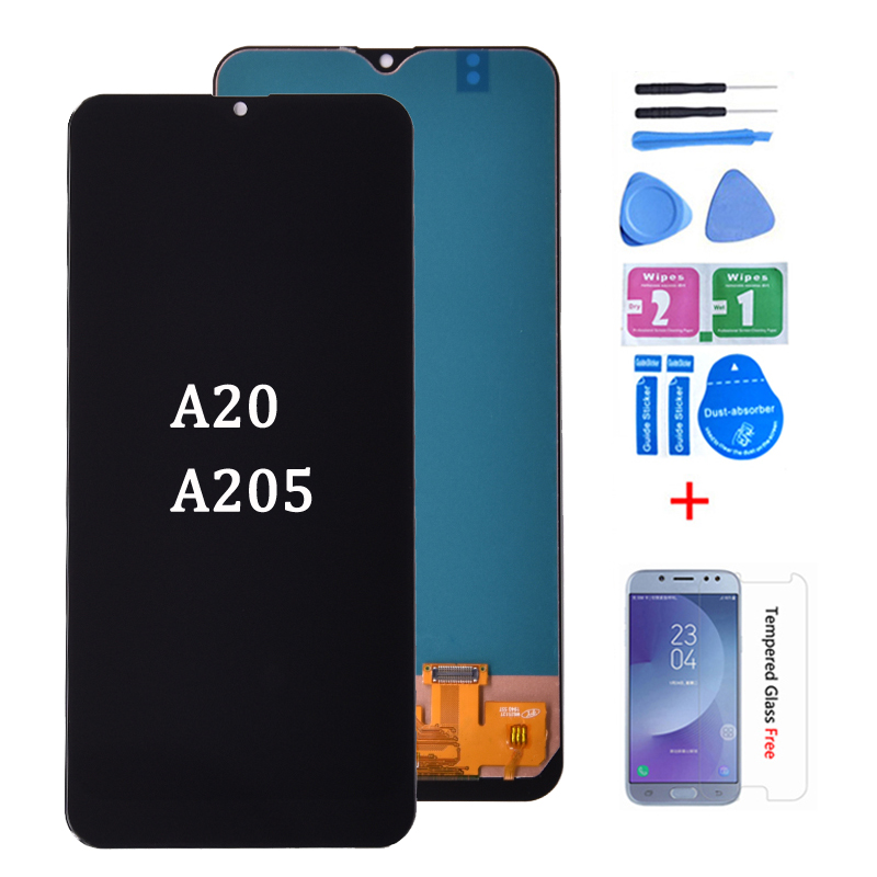 For <font><b>Samsung</b></font> <font><b>galaxy</b></font> <font><b>A20</b></font> A205 SM-A205F A205FN <font><b>lcd</b></font> Digitizer Display With Touch Screen Digitizer Assembly free shipping image