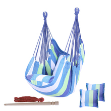 New Thicken Hammock Chair Adults Kid Hanging Swing Chair Outdoor Portable Relaxation Canvas Swing Travel Camping Lazy Chair 2020