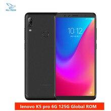 العالمية لينوفو K5 برو L38041 6GB 128GB أنف العجل 636 الثماني النواة أربعة كاميرات 5.99 بوصة 4G هاتف LTE الذكي 4050mAh الهاتف المحمول