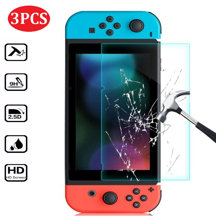 3PCS Tempered Glass For Nintendo Switch Screen Protector NS Accessories Protection