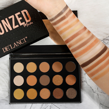 DE'LANCI 15 Colors Naked Eyeshadow Palette Matte Shimmer Professional Nude Eyeshadow Pallete Warm Na