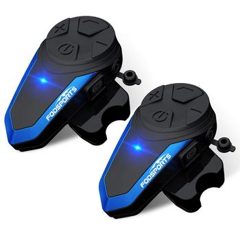 Fodsports-Intercomunicador BT-S3 para casco de motocicleta, 1000M, Auriculares inalámbricos con Bluetooth, resistente...