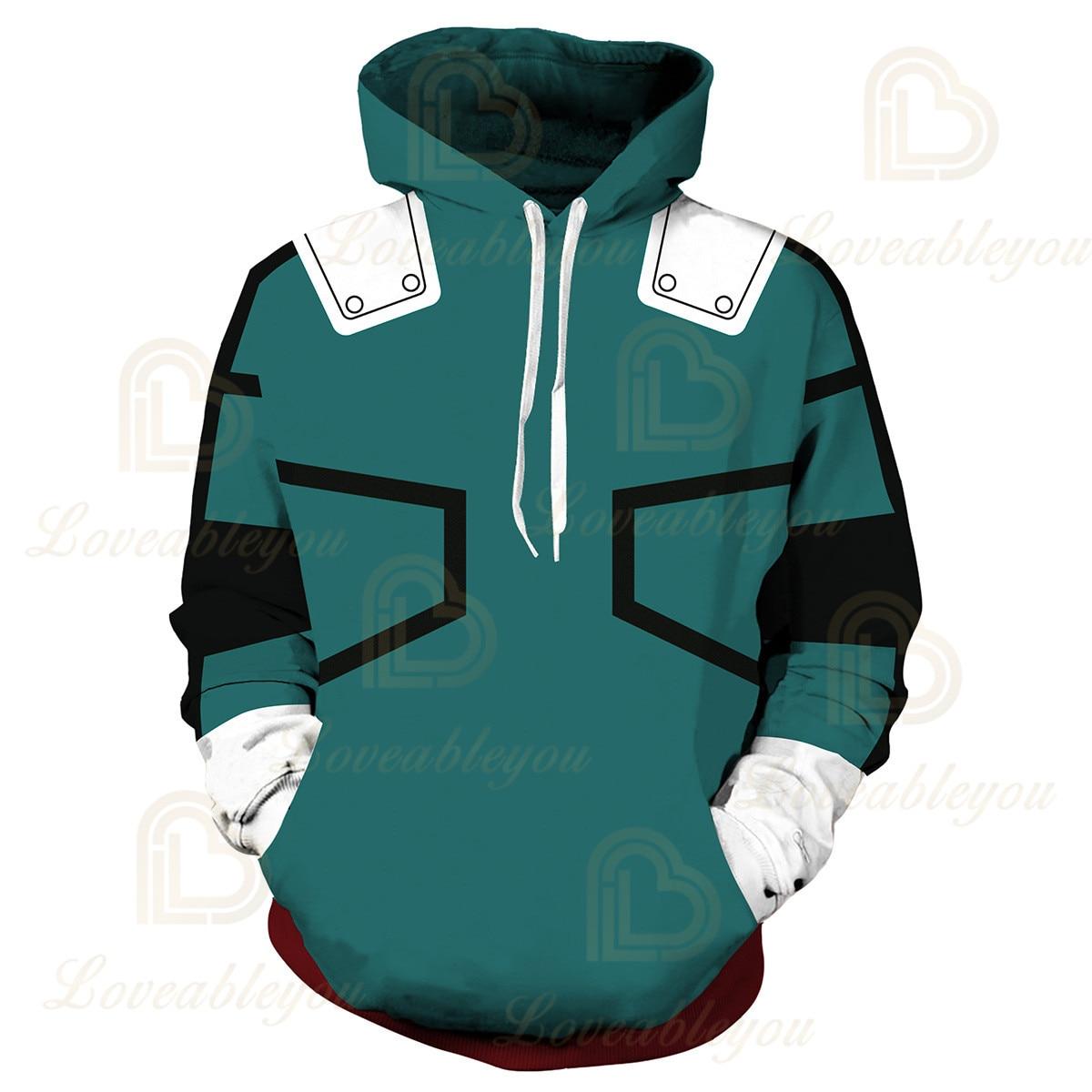 Anime Hoodies Sweatshirts Boku No My Hero Academia Cosplay Costumes Bakugou Todoroki Shoto Spring/Autumn Coat 12