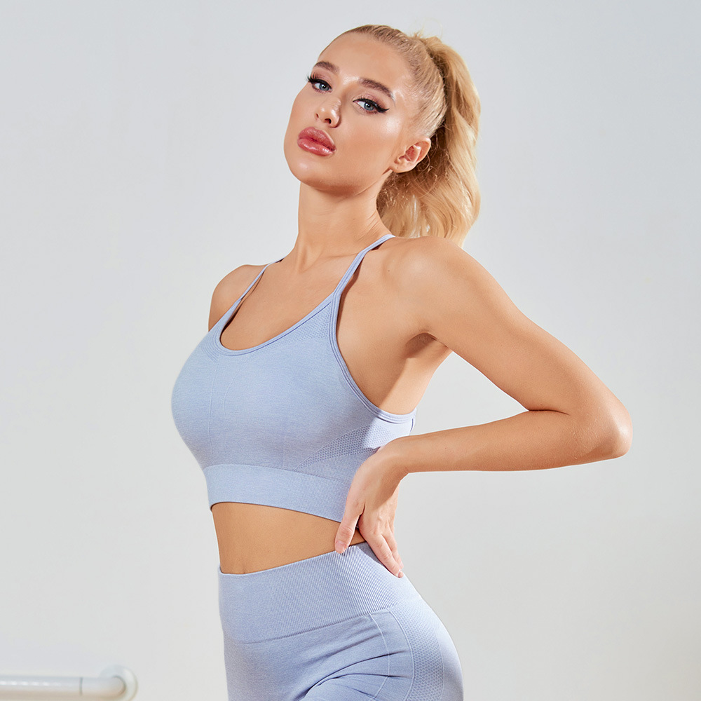 Women Yoga Crop Top Breathable Sports Bra Anti-Sweat Shockproof Athletic Gym Running Fitness Tees Workout Sportswear Sport9s