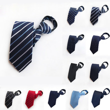 24 Color Men Tie Lazy Necktie Mens Easy Zipper Uniform Group Security Dress Up Business Professional  Man Gift Accessories