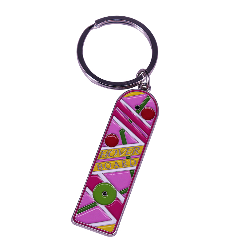 Marty McFly Hoverboard keyring Back To The Future Keychain Time travel Sci-fi Movie Fans gift