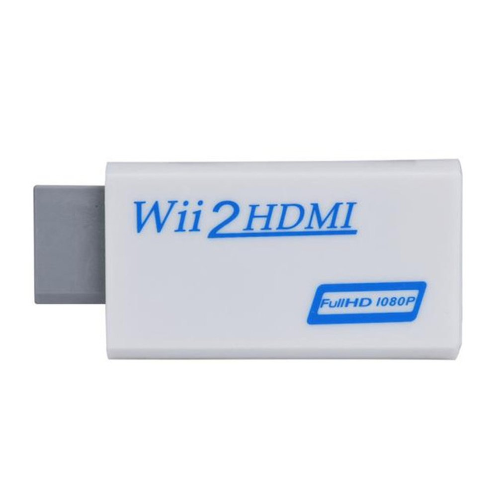 2019 New High Quality Full HD HDMI 1080P Converter Adapter With 3.5 Mm Audio Output For Wii 2 White Dropshipping