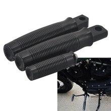 Motorrad Schwarz Aluminium Fußstütze Shifter Fuß peg Für Harley Sportster Eisen 883 XL883N/Vierzig Acht XL1200X Shifter Peg