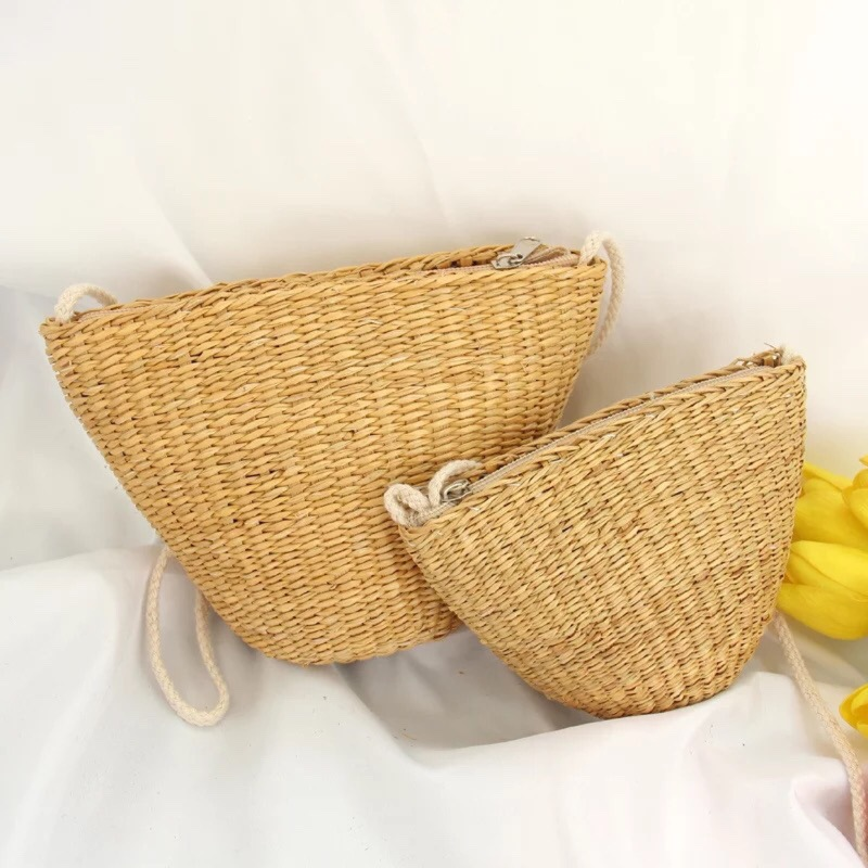 PPy Summer Seaside Holiday Women's Straw Bag Shell Bag Mini Bag Clam Bag Messenger Bag