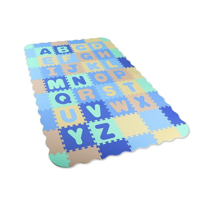 54 pièces EVA mousse Puzzle tapis dessin animé anglais Alphabet motif bébé ramper tapis Puzzle jouets bébé jouer jeu tapis de gymnastique enfants jouets - 6