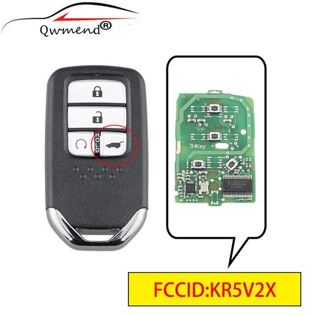 QWMEND KR5V2X 4 Tasten Smart Auto Schlüssel für Honda CRV/URV 2017 2020 ID47Chip Auto Fernbedienung Schlüssel 433mhz