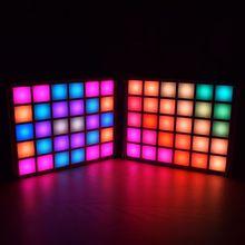 LED DIY Digital Music Spectrum Display Kit Module LED Equalizer Music Spectrum Colorful Palette Clock DIY Electronic Kit new audio music spectrum 6 modes level display screen indicator diy meter kit for diy amplifiers digital music display splitter