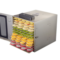 12 layer Fruit Dryer Vegetable Meat Dehydrator Stainless Steel Household Food Dehydrator Tea Bean Drying Machine