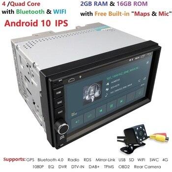 WiFi/4G czterordzeniowy 2 din 7 cali android 10 uniwersalny odtwarzacz samochodowy juke qashqai almera x trail uwaga X-TRAIL dla Nissan GPS wbudowany