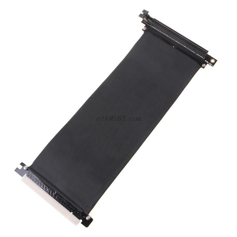 PCI Express PCIe3.0 16X к 16X гибкий кабель, карта расширения, адаптер, угол 90 градусов, высокая скорость, расширитель, переходная карта