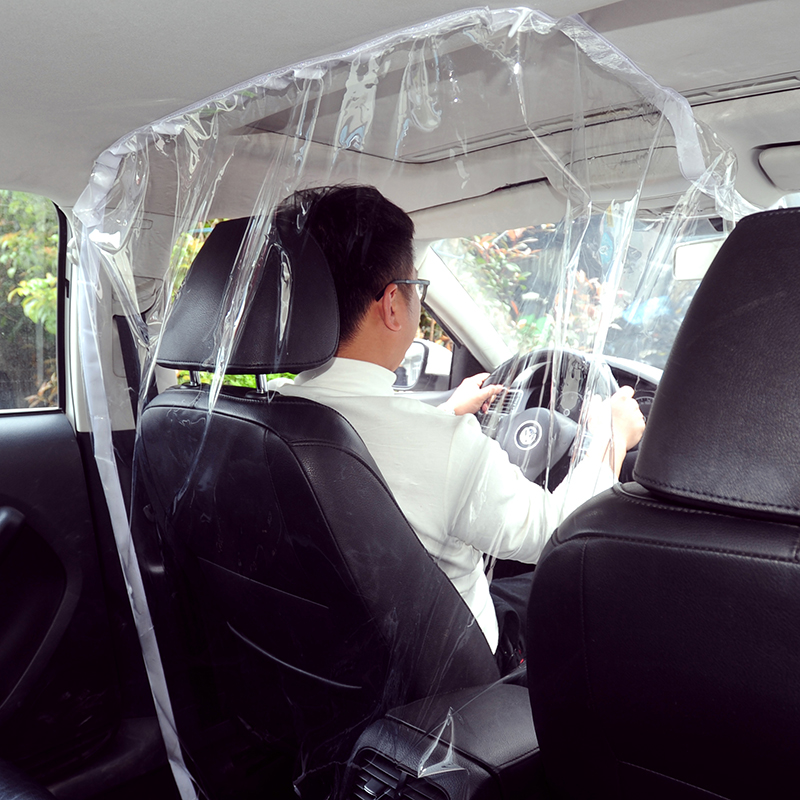 Universal Taxi Car Interior Driver Seal Isolation Cover Prevent Dust And Saliva Protection Car Seats With PVC Materials