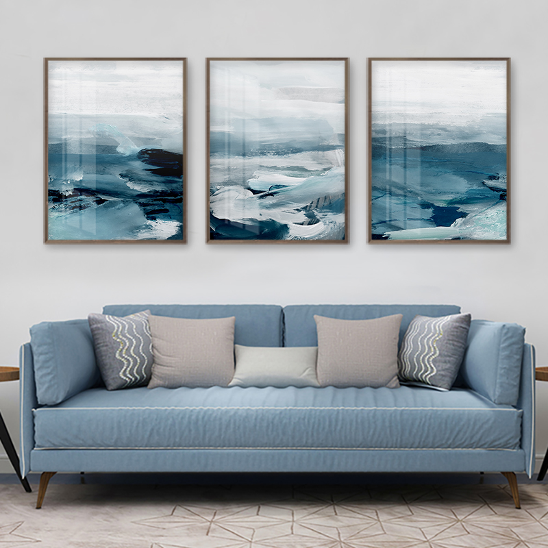 Abstract Ocean Landscape Wall Canvas 25