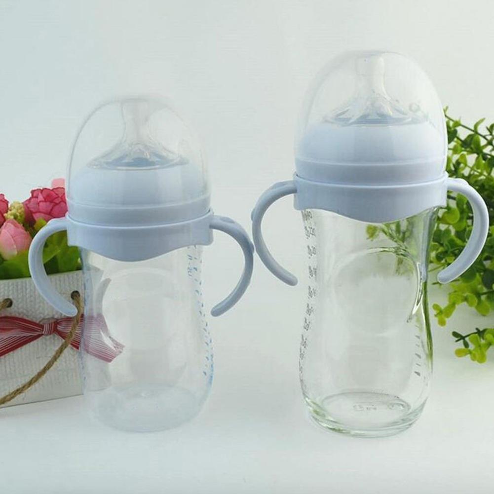 Non-Slip Milk Bottle Grip Handle For Natural Wide Mouth Baby Bottle Feeding Bottles Accessory Include 1PCS Bottle Grip
