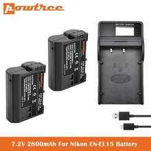 EN-EL15 EN EL15a зарядное устройство для камеры запасные батареи для Nikon d750 d7200 d7500 d850 d7100 d610 d500, MH-25a d7000 z6