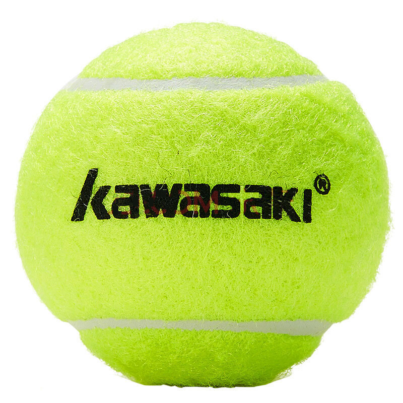 Kawasaki 3Pcs Rubber Tennis Ball High Elasticity Tennis Practice Ball for School Club Competition Training Exercises On Sale